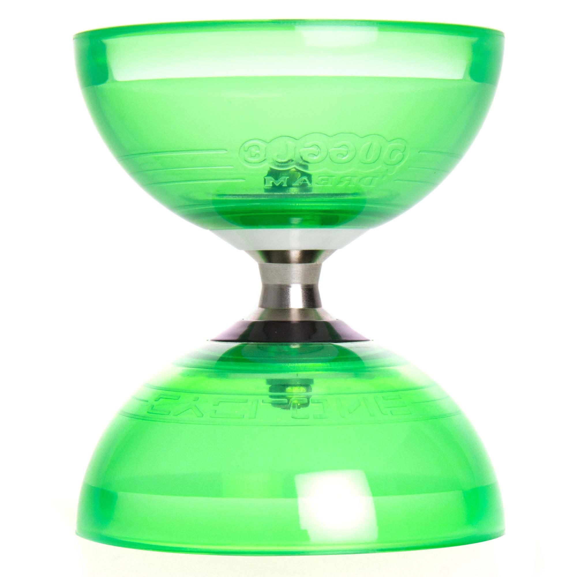 juggle dream cyclone quartz 2 triple bearing diabolo green 1